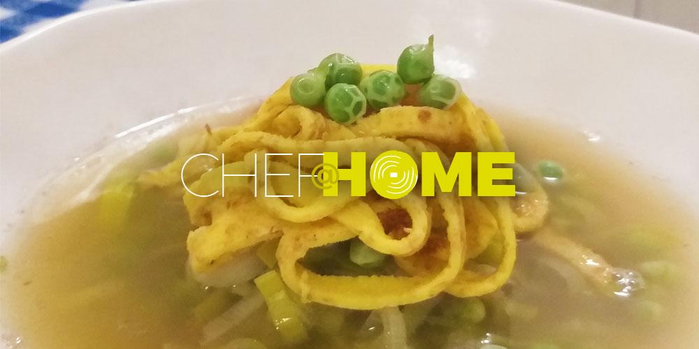 CHEF@HOME – La celestina di piselli dello chef Andrea Demaria